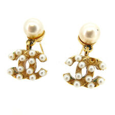 Chanel Piercing COCO Gold Woman Authentic Used Y2970