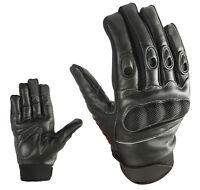 Sport Motorrad Handschuhe Vollfinger Sommer Leder Gloves Gr S  M  L  XL & 2XL