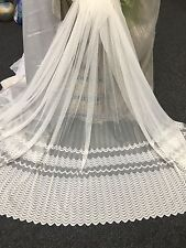 7 metres Sheer Lace Curtain-PRESTIGE 183 cm drop -Ivory  - Tearaway Lace