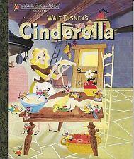 CINDERELLA 1940's Vintage Art LITTLE GOLDEN BOOK New WALT DISNEY Classic Edition