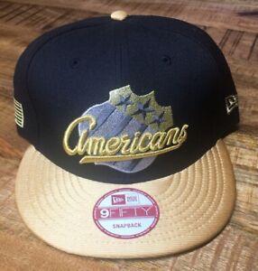 New Era Rochester Americans Cap *see pics & descrip* Black & Gold Snapback Hat