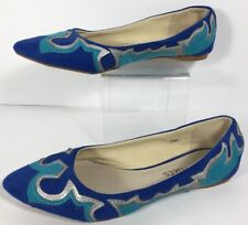 Women's Coconuts India Style Print Ballet Flats Size 6 M