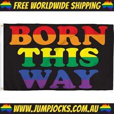 Born This Way Flag - LGBT, Gay, Rainbow, Lady Gaga *FREE WORLDWIDE SHIPPING*