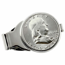NEW Year to Remember Silvertone Half Dollar Coin Money Clip 1958
