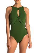 Fuschia 8 Robin Piccone Womens Ava High Neck Keyhole One Piece Swimsuit