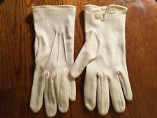 Vintage Stretch Nylon White Gloves British Hong Kong - Size 6