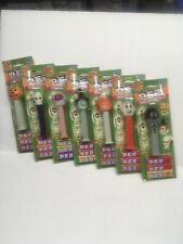 Set Of 7 Halloween Pez Dispensers From 2001 Mint On Cards