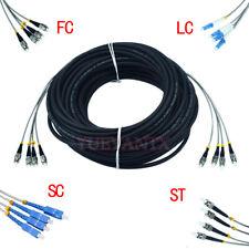 120M SM LC/FC/ST/SC 4 Strand 7.0mm Fiber Cable Outdoor Field Fiber Patch Cord