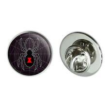 "Black Widow Spider on Web Metal 0.75"" Lapel Hat Pin Tie Tack Pinback"