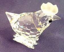 Crystal Swarovski Chicken Hen Figurine With Black Eyes Adorable