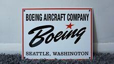 New ListingVintage Boeing Aviation Gasoline Porcelain Sign Gas Oil Metal Airplane Ad Rare