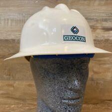 Vintage Bullard Geocon Hard Boiled Hard Hat White 3 Rib Model 303 Class A & B