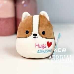 "*SALE* KellyToy Squishmallows 4.5"" Reginald Corgi Dog LT ED HTF Plush Toy NEW"