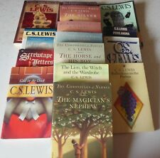 C.S. Lewis 16 Book Lot Chronicles of Narnia Mere Christianity Silent Planet Mere
