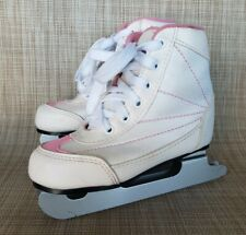 DBX Double Blade White Pink Ice Skates Girls Youth  Size 10J