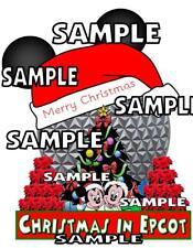 Disney World Christmas in Epcot Scrapbook Paper Die Cut Piece Piecing