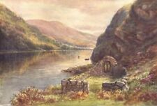 LEINSTER. St. Kevin's Bed & Church of the Rock, Upper Lake Glendalough c1912