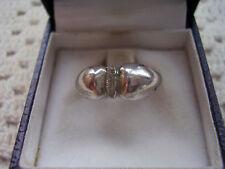 Anello argento 925 zona centrale lavorazione diamantata