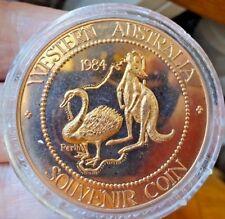 Ouest Australie Souvenir Bronze Pièce de Monnaie Épreuve 1984 par Perth