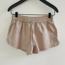 Seed Women's Shorts Cotton Raw Hem Taupe Size 8