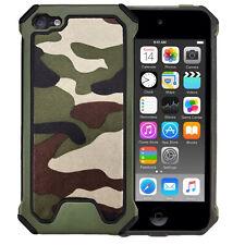 Outdoor Case TPU Hybrid Camouflage Schutzhülle Cover Grün für Apple iPod Touch 6