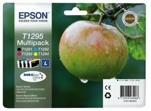 Genuine Epson T1295 Multipack B/C/M/Y Ink Cartridges | FREE 🚚 DELIVERY