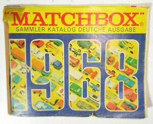 Original Matchbox Katalog 1968 Allemand Question ! (D