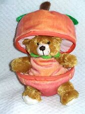"PUMPKIN BEAR BEAN BAG  PLUSHLAND NEW 6"" PLUSH  MARCH OF DIMES w/tag"