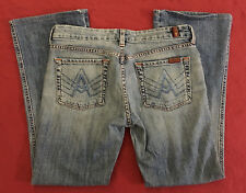 """7 For All Mankind 7FAM A Pocket boot cut womens Jeans size 28 (31.5""""x28"""") USA"""