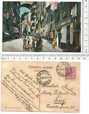 Genova - Via Madre di dio - Viaggiata 1909 - Wagner - 19757
