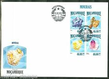 MOZAMBIQUE 2013  MINERALS SHEET FIRST DAY COVER