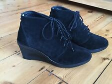Dune Black Suede shoe/boot size 8/41 Wedge lace-up