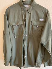 Columbia Men's long sleeve vented shirt Pfg size Xl Green