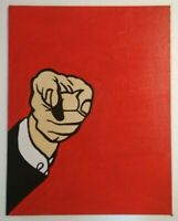 Roy Lichtenstein Reproduction Acrylic Painting Finger Pointing Hand-Painted Art