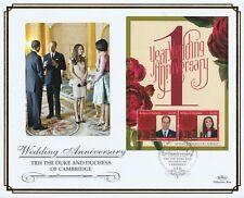 ANTIGUA 3 MAY 2012 ROYAL WEDDING ANNIVERSARY M/SHEET O/S VLE FIRST DAY COVER