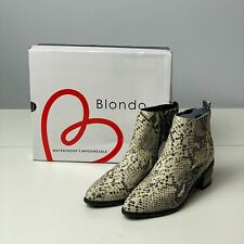 Blondo Women's Elvina Leather Waterproof Ankle Boot Size 8.5 New In Box