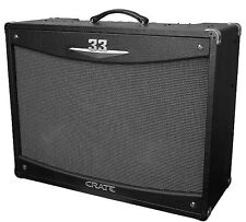 Crate V-Series 2x12 2-Channel All Tube Combo Amplifier with Reverb 33 Watt - Blk