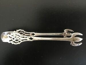 1910 Lunt Chippendale Sterling Silver Sugar Tongs No Monogram