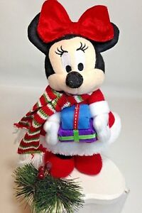 Disney Minnie Mouse Christmas Santa Outfit Plush Dan Dee Toy Red Bow Presents