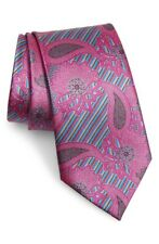 Ermenegildo Zegna 10 Anniversario Quindici Paisley Silk Tie Pink / Multicolor