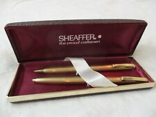 Vintage Sheaffer's Ballpoint Pen & Pencil 12K Gf original hard Case