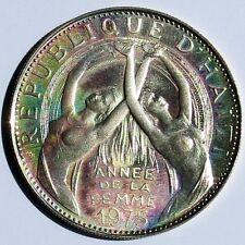 1975 Annee Internation. de la Femme Republique d'Haiti Argento Silver 25 gourdes