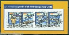 GUINEA BISSAU 2015 55th ANN OF THE 1st NUCLEAR POWERED VEHICLE SHEET  MINT NH