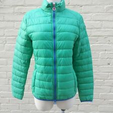 INVICTA Women's Size L Green Quilted Nylon Jacket Hidden Hood w Drawstring Bag