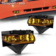 for 1999-2004 Ford Mustang Yellow Front Bumper Fog Lights Lamps+Bulbs Left+Right