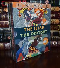 The Iliad Odyssey Homer Illustrated New Sealed Hardcover 2 Vol. Box Gift Set