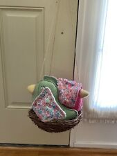 Pottery Barn Kids Penelope Hanging Display Felt Birds Nest Decor Brooke PBK