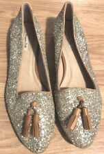 Massimo Dutti Glitter Sequence Shoes Size 9