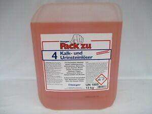 Pack zu 4 Kalk + Urinsteinlöser auch für Wasserstein Rost Fett Eiweiss 10 Liter