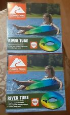 🔥**NEW**OZARK TRAIL RAINBOW RIVER TUBE FOR POOL, LAKE, RIVER FUN LOT OF 2